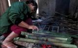 Chuột rừng, môn thục nướng ống tre