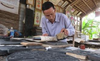 Độc đáo tranh dân gian làng Sình xứ Huế