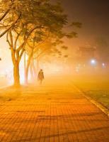 Ngất ngây với cung đường Đại Nội Kinh thành Huế mù sương đẹp như tranh vẽ